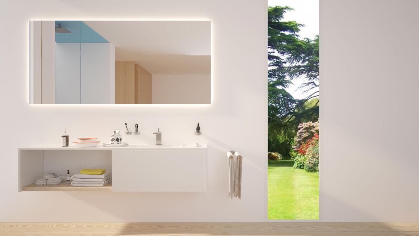 Badezimmerspiegel Hinterleuchtet.Badspiegel Mit Beleuchtung Nach Mass Hinterleuchtet